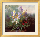 Landscape with Irises Posters by Barbara Koch