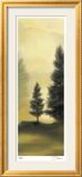 Trees in the Mist I Gerahmter Druck (limitierte Auflage) von Deac Mong
