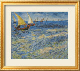 Seascape at Saintes-Maries, c.1888 Posters par Vincent van Gogh