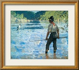 Salmon Fishing, 1927 Prints by Frank Weston Benson