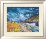 Thatched Cottages at the Roadside Poster von Maurice Vlaminck