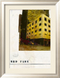 Red Fire Affiches par Ayline Olukman