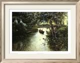 Paysage de rivière Affiches par Manuel Garcia Y Rodriguez