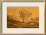 Landscape with a Tree Prints by Jean-Baptiste-Camille Corot