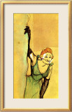 Yvette Guilbert Taking Curtain Call Framed Giclee Print by Henri de Toulouse-Lautrec