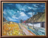 Thatched Cottages at the Roadside Kunst von Maurice Vlaminck
