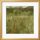 Garden Landscape Ingelijste gicledruk van Gustav Klimt