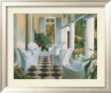 White Summer Terrace Print by Piet Bekaert