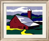 Red Barn II, 1969 Posters par Roy Lichtenstein