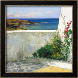 Mediterranean Terrace Prints by Ramon Vila