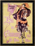 Bal des Etudiants Framed Giclee Print by Charles Loupot