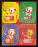 Four Pandas, 1983-lg Affiches par Andy Warhol