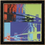 Brooklyn Bridge, ca. 1983 (Orange, Blue, Lime) Poster van Andy Warhol