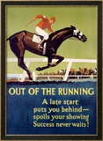 Out of the Running Lámina giclée enmarcada por Frank Mather Beatty