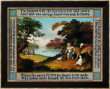 Peaceable Kingdom Poster van Edward Hicks