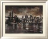New York – Brooklyn-Brücke Poster von Yuliya Volynets