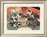 Singing Kimono Cats with Shamisen Posters by Daisuke Yamashina