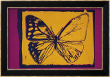 Vanishing Animals: Butterfly, c.1986 (Yellow on Purple) Art by Andy Warhol