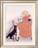 Publicité lait stérilisé, 1896 (Steinlein) Reproduction giclée encadrée par Théophile Alexandre Steinlen