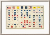 Civil War: Flags, Badges, c.1895 Gerahmter Giclée-Druck