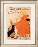 Lait Pur Sterilise Cats Reproduction giclée encadrée par Théophile Alexandre Steinlen