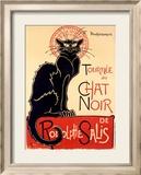 Chat Noir Reproduction giclée encadrée par Théophile Alexandre Steinlen