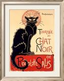 Tournée du Chat Noir Reproduction giclée encadrée par Théophile Alexandre Steinlen