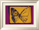 Vanishing Animals: Butterfly, c.1986 (Yellow on Purple) Affiches par Andy Warhol