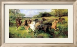 Colt Hunting in the New Forest Print by Lucy Elizabeth Kemp-Welch