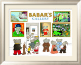 Babar's Gallery Poster by Laurent de Brunhoff