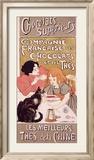 Chocolats et thés Reproduction giclée encadrée par Théophile Alexandre Steinlen