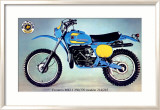 Bultaco Frontera MKII Motorcycle Poster Framed Giclee Print