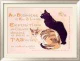 Exposition à la Bodinière Reproduction giclée encadrée par Théophile Alexandre Steinlen