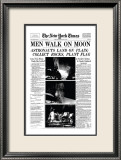 New York Times, July 21, 1969: Men Walk on Moon Framed Giclee Print