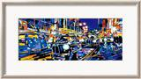 Black Cabs, London Print by Roy Avis