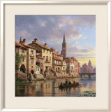 Riverside Village I Prints by Charles Kuwasseg