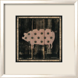 Polka Pig IV Posters by Lisa Hilliker