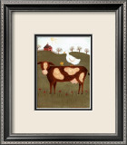 Cow with Duck Poster by Valerie Wenk