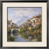 Riverside Village II Prints by Charles Kuwasseg