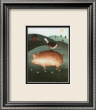 Pig with Goose Prints by Valerie Wenk