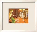 Jeu de billard entre chiens Affiche par Arthur Sarnoff