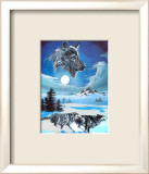 Running Wolves Prints by Gary Ampel