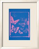 Vanishing Animals: Butterflies, c.1986 (Hot Pink on Blue) Affiches par Andy Warhol