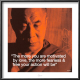 Dalai Lama: Fearless &amp; Free Print