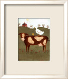Cow with Duck Print by Valerie Wenk