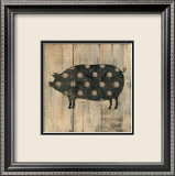 Polka Pig II Print by Lisa Hilliker