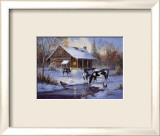 Farm im Winter Kunstdruck von M. Caroselli