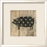 Polka Pig II Posters by Lisa Hilliker