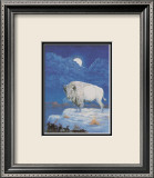 Wei&#223;er Bison Kunst von M. Caroselli