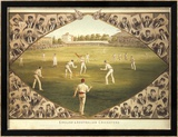 English And Australian Cricketers Limited Edition Framed Print by I.f. Weedon